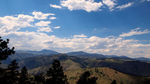 Looking west from Lookout Mountain