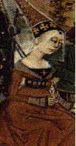 An image of Queen Isabella of  France, wife of Edward II of England.