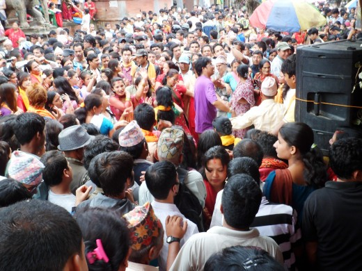 Population of Nepal increasing rapidly.