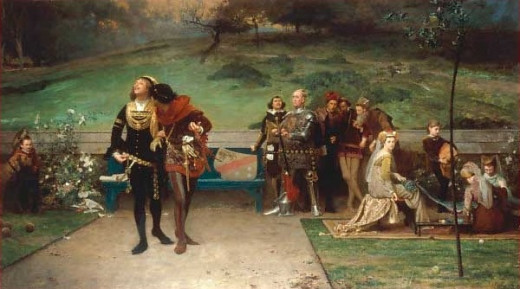A 19th century painting which highlights the close relationship of Edward II and Piers Gaveston