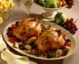 Cornish Hen with a fruit stuffing