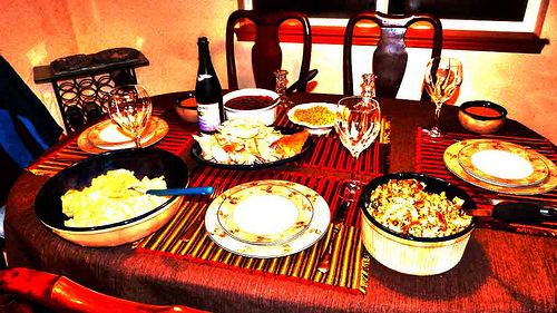 A simple Thanksgiving meal