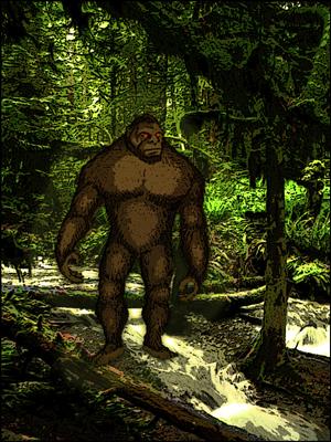 Bigfoot on the prowl