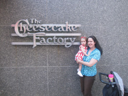 Outside of The Cheesecake Factory in Chicago IL