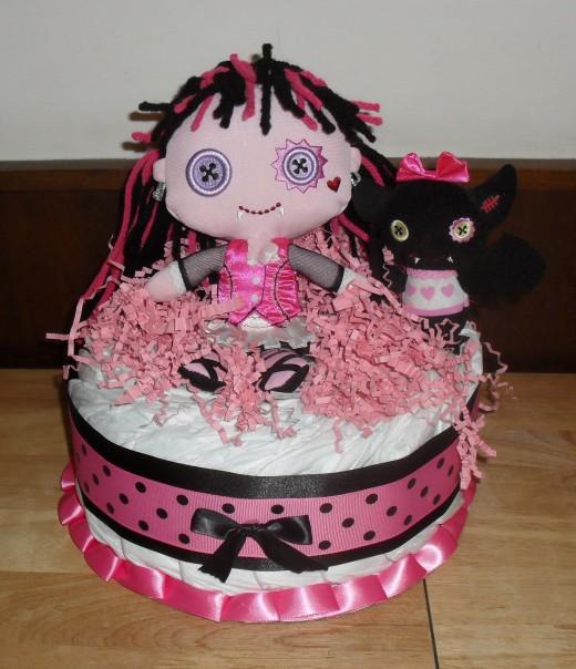 1 Tier Monster High Cake