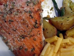 Kosher baked salmon is a healthy and delicious way to get your daily dose of omega-3 fats.