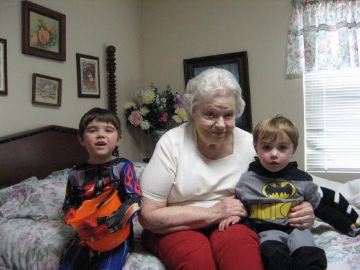 We visit nursing homes on holidays.