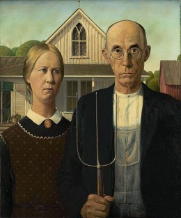 American Gothic, one of America's most iconic paintings, can be found (sometimes) at the Art Institute of Chicago