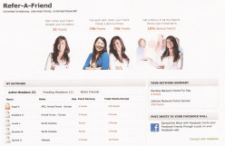My Refer A Friend page on MyPoints
