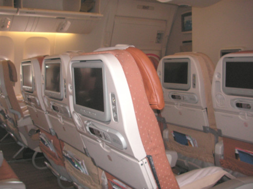Middle section of the Economy cabin