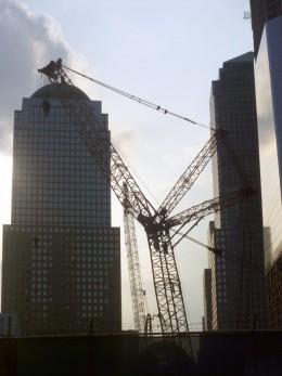 Cranes at the WTC Site