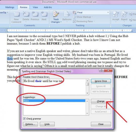 MS Word finds more mistakes in grammar.