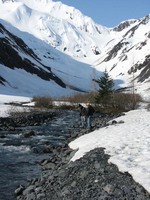 Exploring our way to a glacier