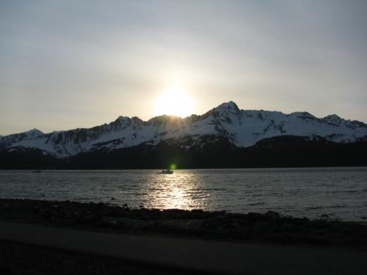 Sunset in Seward