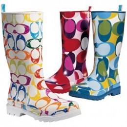 Colorful Coach rain boots