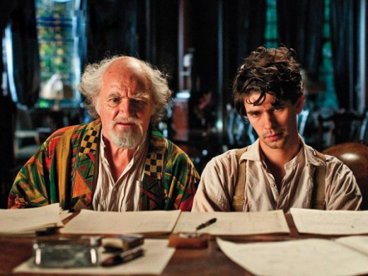 Jim Broadbent and Ben Wishaw in Cloud Atlas