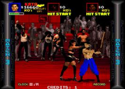 Pit Fighter was the first video game to feature live actors and it was based on one on one combat. It was first made for arcades and then later for home video game consoles.
