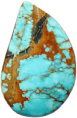 Cabochon made by the author using #8 Mine Turquoise