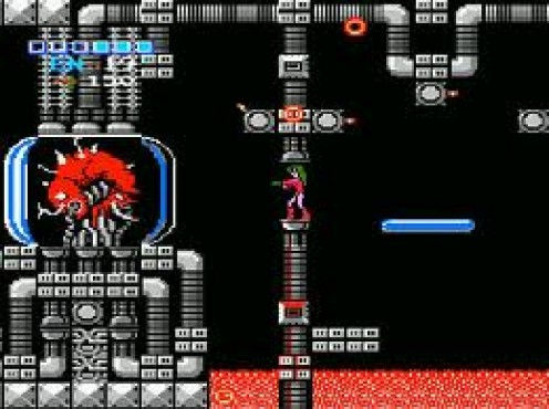 Metroid was on the Nintendo and it has several sequels. The game takes place in outer space and in order to win you must defeat Mother Brain.