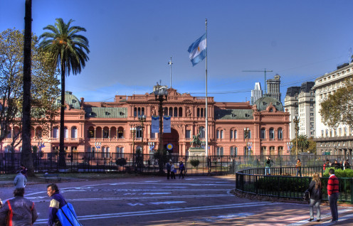 Frontage of the Casa Rosada (Government House) in Buenos Aires