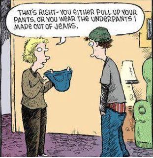 Low waist jeans humour