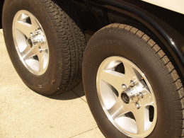 Properly inflated trailer tires.