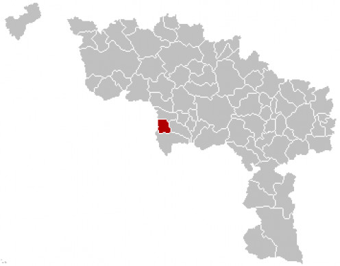 Map location of Quiévrain, Hainaut province, Belgium