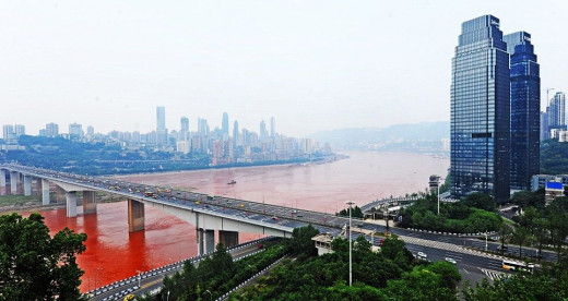 The red River Yangtze in South-West China