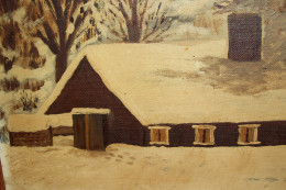 This is a picture my grandmother painted of my uncle's sugar shanty.
