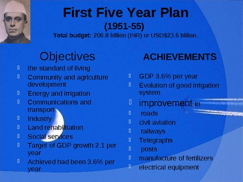 INDIA'S FIRST FIVE YEAR PLAN