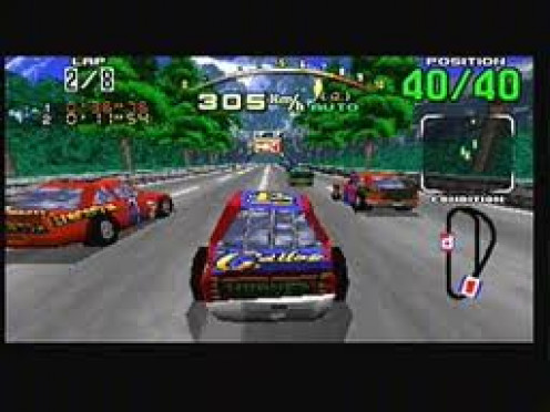 Daytona USA is a racing video game that features tracks from across the globe. Originally, Daytona USA was an arcade game made by Sega but it was later ported to all Sega systems.