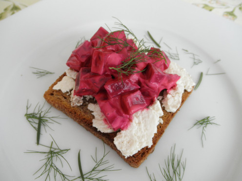 From the Open Sandwich Series of the Vegetarian Lunch Ideas