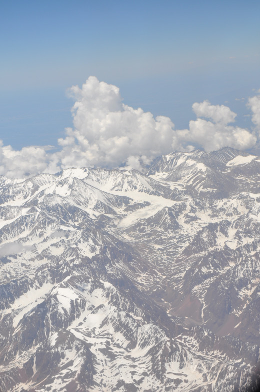 The majesty of the Andes mountains near Santiago. Part of the longest mountain range in the world