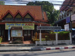 AUA school offers Thai language tuition to foreigners as well as English to Thais