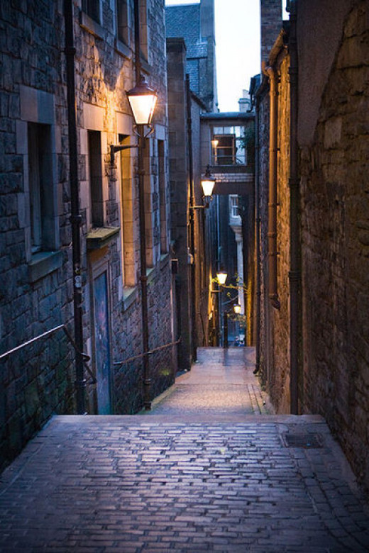 Anchor Close off the Royal Mile may well harbour a few of Edinburgh's ghosts
