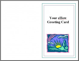 Fig 7.  Front of Greeting Card.