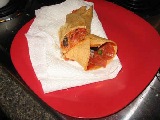 Hot Pizza Wrap
