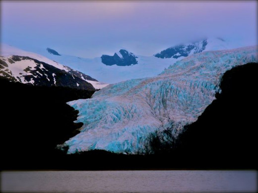 Another view of the El Aguila glacier, in all its imposing glory