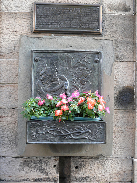 Memorial well to the 300 women burned for witchcraft. Many of the shadowy raiths seen on the Royal Mile could be the ghosts of these unfortunate women.