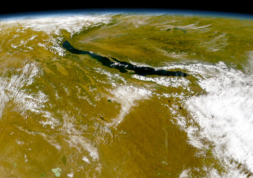 Lake Baikal from Satellite OrbView-2 (Image by NASA provided