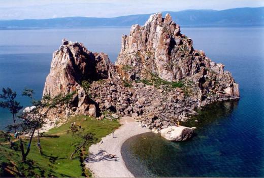 Olkhon Island, Shaman Rock near Khuzhir
