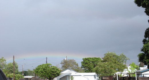 A rainbow as seen from the ground belies its true nature