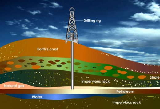 Petroleum is formed by decomposition of dead animals and plants buried under rocks