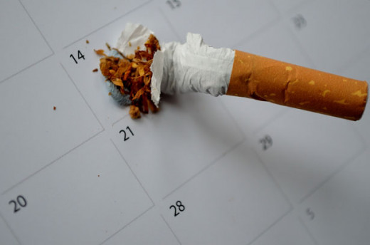 A calendar date is waiting for me to stop smoking.