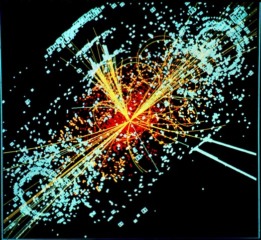 Possible Higgs boson signature