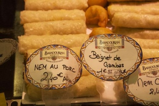 I even found Vietnamese Nem - Vietnamese spring rolls or fried rolls, it certains popular in France