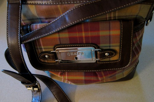 """Chaps"" Plaid Purse"