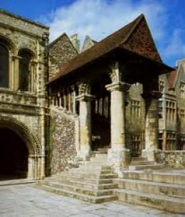 Norman staircase at King's School, Canterbury