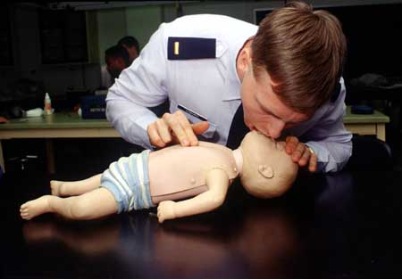 Traditional CPR, including rescue breathing, is always recommended for infants and small children.