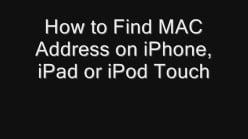 How to Find MAC Address on iPhone, iPad or iPod Touch